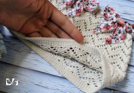МК-описание панамки с отверстиями для двух хвостиков Zigzag ручной работы на заказ