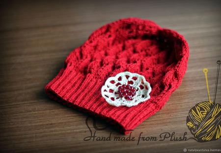 Мастер-класс: Шапка-панамка Pomegranate seeds (Гранатовое зернышко) ручной работы на заказ