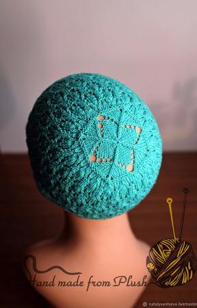 Мастер-класс: Ажурной шапка-панамка спицами Mascot (Талисман) ручной работы на заказ
