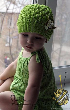 Мастер-класс: Шапка-панамка спицами Мелисса ручной работы на заказ