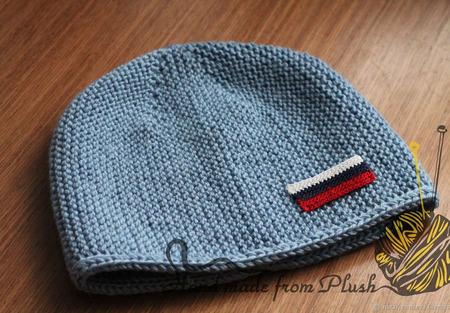 Мастер-класс: Мужская шапка Патриот спицами ручной работы на заказ