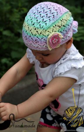 Мастер-класс: Настоящая бандана для девочки спицами ручной работы на заказ