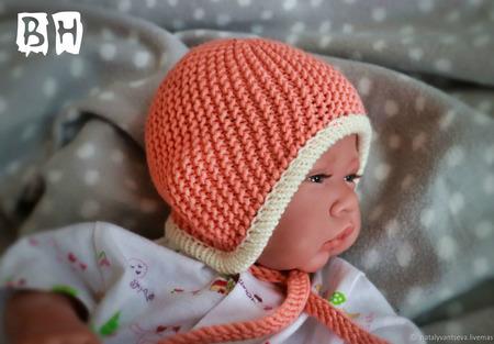 МК-описание шапочки с ушками Strip (Полосатик) ручной работы на заказ