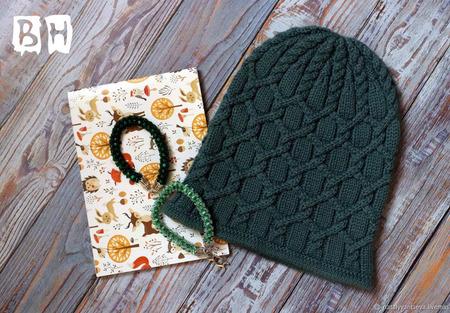 МК-описание шапочки-бини Barbara (Варвара) ручной работы на заказ