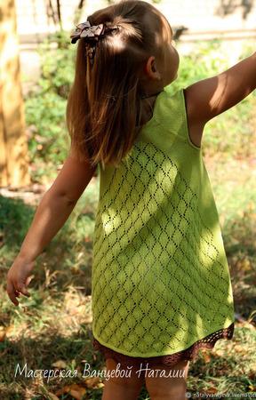 Описание с элементами обучения топа/туники/платья Green ручной работы на заказ