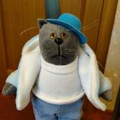 Интерьерная кукла-кот
