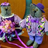 Парные интерьерные коты