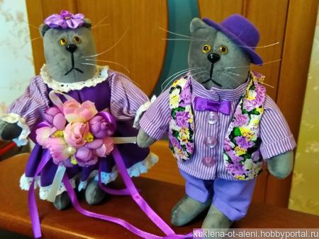 Парные интерьерные коты ручной работы на заказ