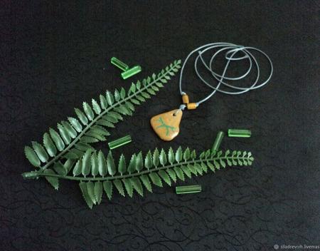 Амулет Природный глиф 2 ручной работы на заказ
