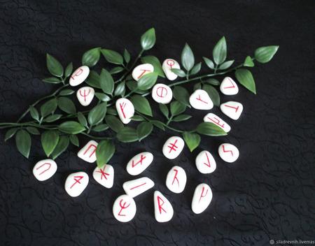Набор Вендские руны (Славянские), на камне ручной работы на заказ