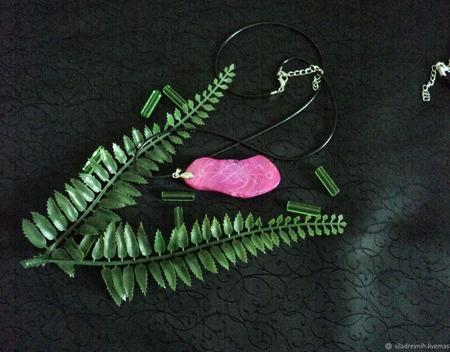 Амулет Создание семьи (розовый агат) ручной работы на заказ