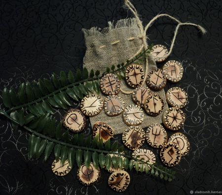 Набор Вендских (Славянских) рун ручной работы на заказ