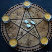 """Ритуальная доска """"Пентаграмма"""""""