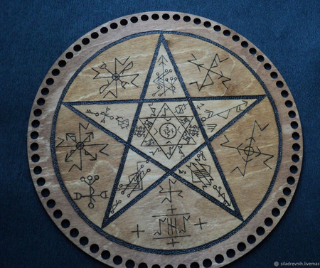 """Ритуальная доска """"Пентаграмма"""" ручной работы на заказ"""