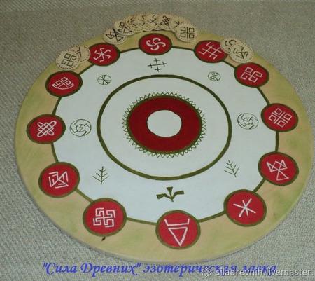 Деревянный славянский алтарь ручной работы на заказ
