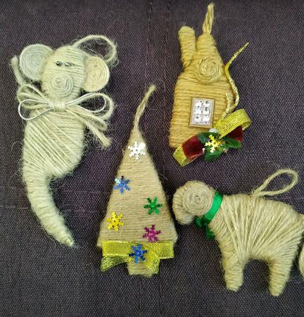 """Ёлочные экологически чистые игрушки """"Символ года"""" ручной работы на заказ"""