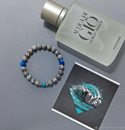 Мужской браслет «Морские брызги» ручной работы на заказ