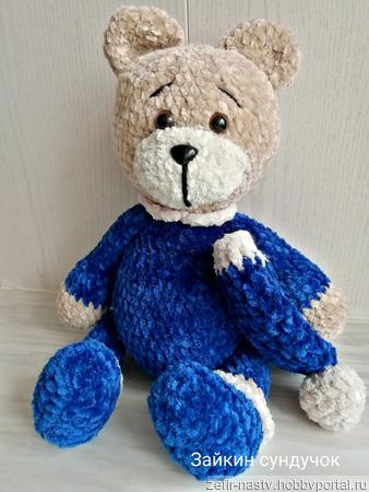 Плюшевый медведь ручной работы на заказ