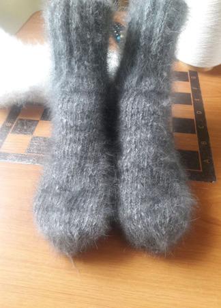 Носки из кроличьего пуха ручной работы на заказ