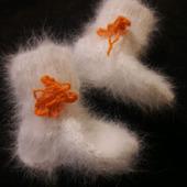 Носочки из кроличьего пуха