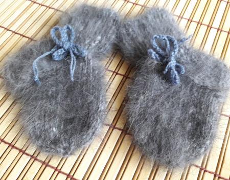 Носочки из кроличьего пуха ручной работы на заказ