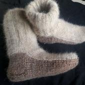 Носки из собачьего пуха (комби)