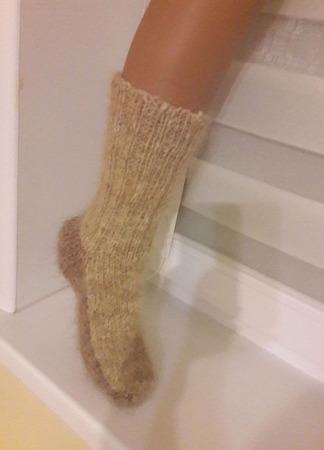 Носки из собачьего пуха (комби) ручной работы на заказ