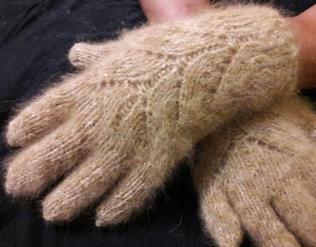 Перчатки из собачьего пуха ручной работы на заказ