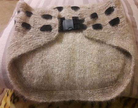 Пояс 02  из собачьей шерсти (100%) ручной работы на заказ