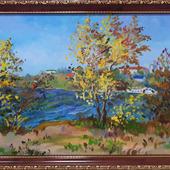 """Картина """"Осень на р.Самарка, г.Самара"""""""
