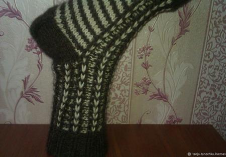 Носки мужские вязаные ручной работы на заказ