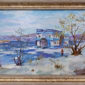 """Картина """"Волга. Весенний разлив"""""""