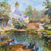 """Картина """"Озеро в п.Царевщина, г.Самара"""""""
