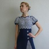 """Описание женского платья """"Морское путешествие"""""""