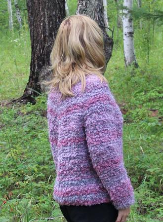 """Пуловер """"Розовый вечер"""" ручной работы на заказ"""