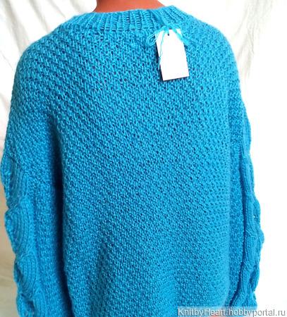 """Мохеровый свитер """"Листья"""" ручной работы на заказ"""