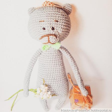 Медведь-джентльмен ручной работы на заказ