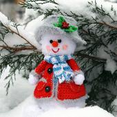 Пан Снежок - обаятельный новогодний снеговичок