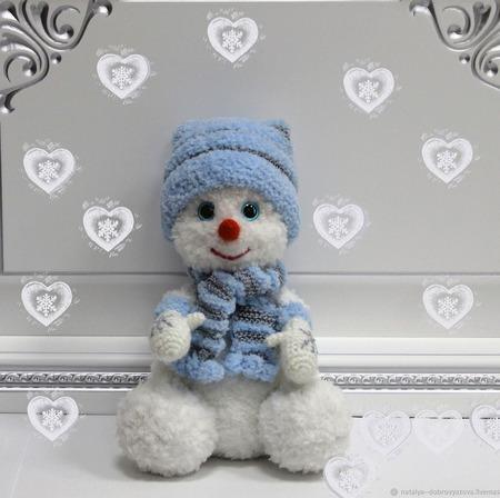 Мастер-класс по вязанию крючком игрушки снеговичка ручной работы на заказ