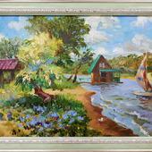 """Картина """"Пляж на Проране, г.Самара"""""""