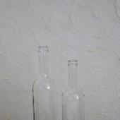Бутылки стеклянные прозрачные белые с толстым дном