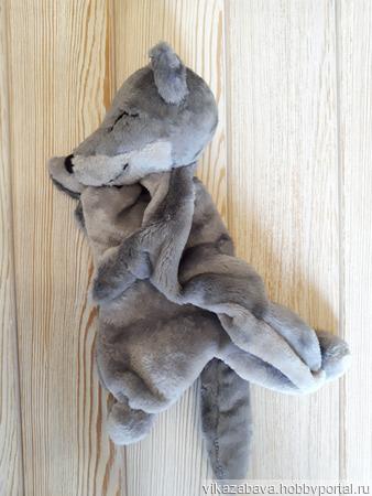 Комфортер плюшевый волчонок ручной работы на заказ