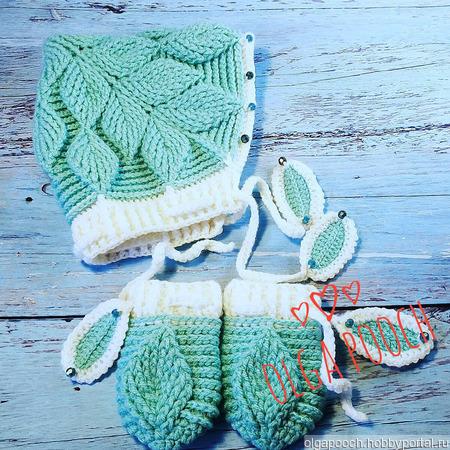 """Осенне-весенний комплект """"Листочки"""" для малыша 6-9 месяцев: ручной работы на заказ"""