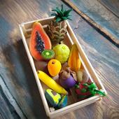 """Счётный игровой набор """"Тропические фрукты и овощи"""" (55 предметов)"""