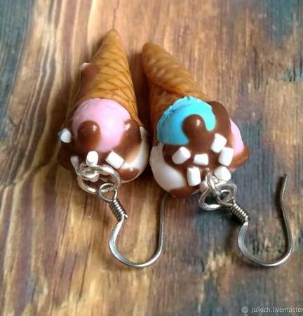 """Серьги """"Мороженки"""" ручной работы на заказ"""
