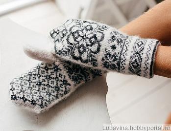 Варежки шерстяные женские ручной работы на заказ