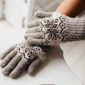Перчатки шерстяные
