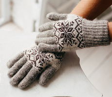 Перчатки шерстяные ручной работы на заказ