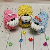 Вязаные плюшевые овечки