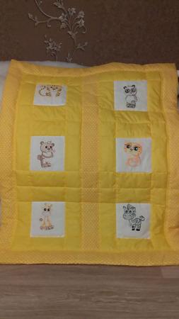 Одеяло для деток с машинной вышивкой ручной работы на заказ